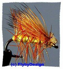 Yellow Elk Hair Caddis Dry Fly Fishing Flies - Choice of Quantity and Hook Size