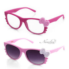 New  Hello Kitty Style Sunglasses or Clear Lens  Glasses Rubber Frame Cosplay