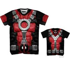 Marvel Comics Deadpool Sublimated Costume Adult T-shirt - Red