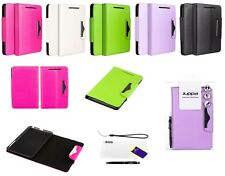 Executive Leather Wallet Case with Screen Protector & Stylus for Google Nexus 7