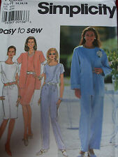 SIMPLICITY #7589-LADIES ~ EASY TO SEW ~ JUMPSUIT - DRESS - JACKET PATTERN 8-24uc