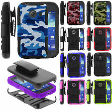 Samsung Galaxy Ace Style S765C Rugged Armor Image Stand Holster Clip Case Cover