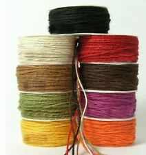 Twisted Burlap Hessian Jute Bow Craft Gift Wrap String Rustic Rope Ribbon - 3m
