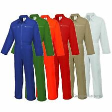 Boilersuit Zip Front Two Rear Patch Pockets Coveralls Overalls Workwear XS - 4XL