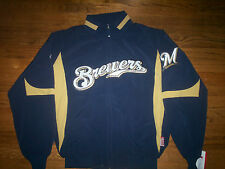 MILWAUKEE BREWERS NEW MLB AUTHENTIC MAJESTIC THERMA BASE PREMIER KIDS JACKET