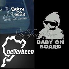 Funny Car Window Safe Sign Vinyl Decal Decor Graphic Cool Baby on Board Sticker