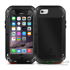 LOVE MEI Aluminum Metal Gorilla Glass Shock/Water Proof Case For iPhone 6 & plus