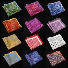 NC Handkerchief 100% Natural Silk Satin Mens Hanky Wedding Party Pocket Square
