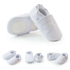Baby Boy Girl Cross Baptism Christening Shoes Church Soft Sole Leather Shoes J98