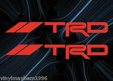 TRD Vinyl Stickers Toyota Racing JDM Scion tC IS-F IS250 CT200h Supra Tacoma FT1