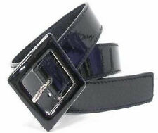 """WN148-GALS 1 1/4"""" WIDE BLACK PATENT LEATHER BELT @WHOLESALE & FREE USA SHIPPING"""