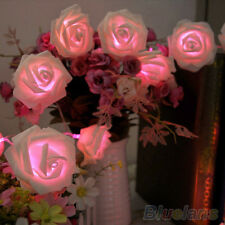Adorable 20LED Rose Flower Wedding Garden Christmas Decoration String Lights