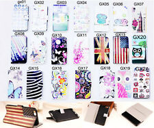 Flip wallet Card Holder PU Leather Case Stand Cover for Samsung Various phone