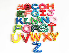 boy&girl Sale Alphabet / Digital Wood Fridge Magnets Baby Educational Toy Set
