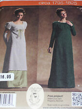 SIMPLICITY #4055-LADIES REGENCY- DOWNTON ABBEY- JANE AUSTEN GOWN PATTERN 6-20uc