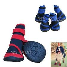 Pet Dog Boots Waterproof Protective Rubber Rain Stripe Shoes Booties Socks New