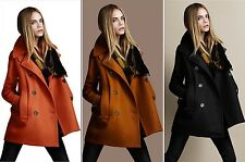 2013 New lady Slim Fit Top Outerwear Womens Double-breasted woolen Coats/Jackets