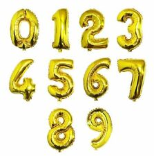 41cm Golden Numeric Number Foil Balloons Baby Shower Party Favor Supply Props