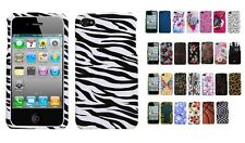 Two Pc Plastic Hard Snap on Design Protective Cover Case for iPhone 4 / 4S