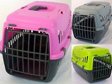 Pet Cat Dog Puppy Rabbit Carrier Case Secure Seatbelt Hold Green Pink Grey