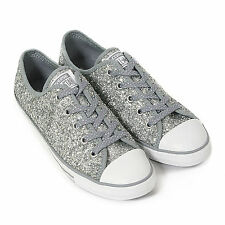Converse Women's All Star Dainty Sparkle Ox Glitter Trainer Lucky Stone