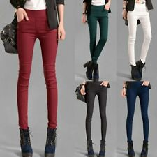 Women Slim Fit Stretch Soft Skinny Leggings Jeans Pencil Pants Trousers Tights