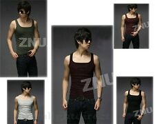 7 Colors Men's Sexy Casual Sport Vest Cotton Fitted Slim Round Neck Sleeveless