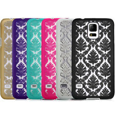 For Samsung Galaxy Note 4 N910 Damask Pattern Rubber Matte Hard Back Case Cover