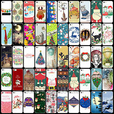 Cute Cartoon Christmas New Year Painted Pattern Case Cover for Apple iPhone 5C