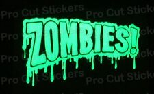 Zombies Walking Dead Small to Large Glow in the Dark Luminescent Stickers Decals