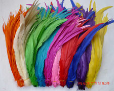 wholesale natural 10/50/100pcs multicolor badger saddle Rooster feathers 12-16""