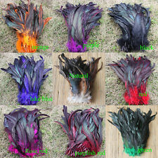 wholesale natural 50/100pcs multicolor badger saddle Rooster feathers 11-14""