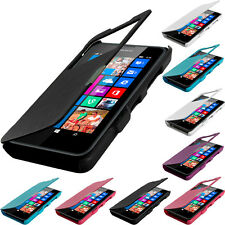 For Nokia Lumia 630 635 Magnetic Wallet Closing Hard Flip Case Cover