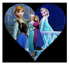 "2.5-5"" DISNEY FROZEN ANNA ELSA CHARACTER CUSTOM FABRIC APPLIQUE IRON ON"