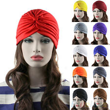 GRACEFUL UNISEX INDIAN STYLE STRETCHABLE TURBAN HAT HAIR HEAD WRAP CAP HEADWRAP