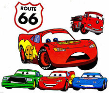 "5.5-9.5"" DISNEY CARS MCQUEEN  SETCHARACTER WALL STICKER GLOSSY BORDER CUT OUT"