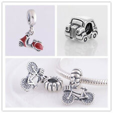 Jaime 925 Sterling Silver Solid Vehicles Series Fit European Charm Bead Bracelet