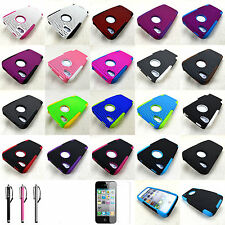 Apple Iphone 4 4S Hybrid Mesh Dual Layer Soft Hard Gel Skin Silicone Case Cover