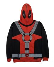 Deadpool Costume Marvel Comics Licensed Zip Up Hoodie S-XXL