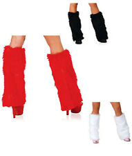 Fashion Winter Faux Fur Rave Christmas Fluffies Leg Warmers Furry Boot Covers