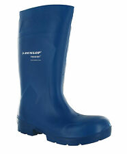 New Dunlop Purofort Pro Blue Food Multigrip S4 Safety Wellington Boots Size 3-15