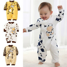 Baby Girl Boys Newborn Cotton Long Sleeve Jumpsuit Romper Climbing Clothes CA