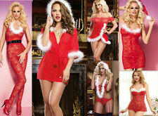 Christmas/Valentine Gift Sexy Womens Xmas Chemise Lingerie Fancy Dress Size 8-18