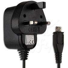 UK MAINS 3 PIN MICRO USB WALL CHARGER CABLE LEAD WIRE FOR YOUR MOBILE PHONE