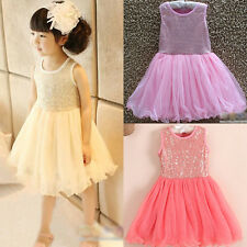 Hottest Xmas Baby Girls Toddler Princess Party Lace Tulle Tutu One-piece Dress