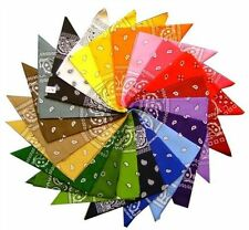 New Square Paisley Bandanas Double Sided Head Wrap Scarf Wristband Multicolor