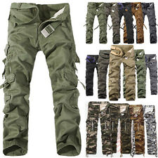 2015 Casual Mens Military Army Cargo Camo Combat Work Trousers Zipper Pants