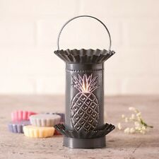 PINEAPPLE WAX WARMER Handmade tart Burner PUNCHED TIN Scented COUNTRY WELCOME