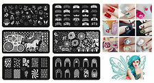 Nail Art DIY Image Stamping Steel Plates Manicure Template Tips Tool Stamp