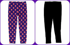 Gymboree NWT Girls Black or Pink & Purple Polka Dot Leggings Sz 4 SOLD SEPARATLY